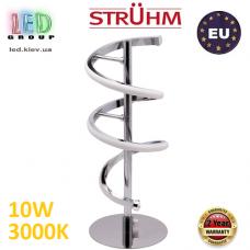 Настольная светодиодная лампа, Strühm Poland, 10W, 3000K, нержавеющая сталь + пластик, круглая, хром, RA≥80, SIMONA LED TBL. ЕВРОПА
