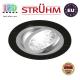 Потолочный светильник/корпус, Strühm Poland, встроенный, алюминий, круглый, чёрный/хром, 1хGU10, ALUM C. Польша!