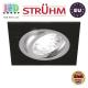 Потолочный светильник/корпус, Strühm Poland, встроенный, алюминий, квадратный, чёрный/хром, 1хGU10, ALUM D. ЕВРОПА