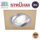 Потолочный светильник/корпус, Strühm Poland, встроенный, алюминий, квадратный, бежевый/хром, 1хGU10, ALUM D. ЕВРОПА