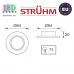 Потолочный светильник/корпус, Strühm Poland, встроенный, алюминий, круглый, хром, 1хGU5.3, OKTAN C. ЕВРОПА