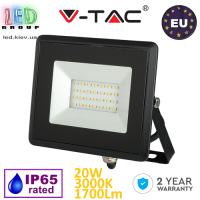 Светодиодный LED прожектор, V-TAC Europe, 20W, 3000K, 1700Lm. ЕВРОПА!!! Гарантия - 2 года