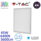 Светодиодная LED панель, V-TAC, 45W, 6400K, 3600Lm, RA>80. ЕВРОПА!!! Гарантия - 2 года