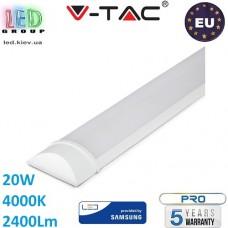 Светильник линейный LED V-TAC, Grill Fitting, 600mm, SAMSUNG CHIP, 20W, 4000К, RA≥80, белый. ЕВРОПА!!! Premium. Гарантия - 5 лет