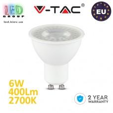 Светодиодная LED лампа V-TAC, 6W, GU10, 2700К – тёплое свечение. ЕВРОПА!!! Гарантия - 2 года