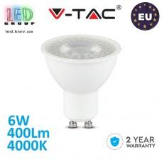 Светодиодная LED лампа V-TAC, 6W, GU10, 4000К – нейтральное свечение. ЕВРОПА!!! Гарантия - 2 года