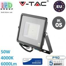 Светодиодный LED прожектор, V-TAC, 50W, 4000K, 6000Lm. SAMSUNG CHIP, RA≥80. ЕВРОПА!!! Premium. Гарантия - 5 лет