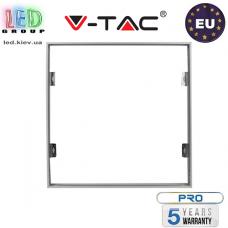 Переходная/монтажная алюминиевая рамка V-TAC для светодиодных панелей 60x60см , монтаж без шурупов, белая. ЕВРОПА!!! Гарантия - 5 лет