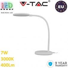 Настольная светодиодная лампа LED V-TAC, 7W, 230V, 3000К, белый. ЕВРОПА!!!