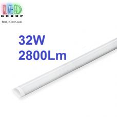 Светодиодный линейный светильник 32W, 1200мм, 6500К, IP20, накладной. Гарантия - 1год.