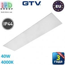Светодиодная LED панель GTV, G-TECH 40W, 4000K, IP54, 120х30см, толщина - 10мм. ПОЛЬША!!! Premium. Гарантия - 3 года