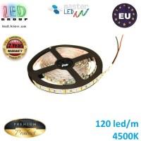 Светодиодная лента master LED, 12V, SMD 2835, 120 led/m, IP20, 1080Lm, белый нейтральный 4500К, Premium. Гарантия - 2 года.