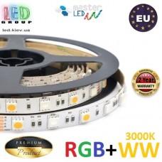Светодиодная лента master LED, 12V, SMD 5050 RGB + SMD 5050 WW, 60 led/m, IP20, 3600Lm, Premium. Гарантия - 2 года.