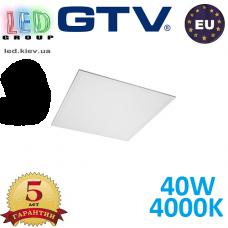 Светодиодная LED панель GTV, EMC+, 40W, 4400Lm, 4000К, IP54, белый, толщина - 10мм, GALAXY. ПОЛЬША!!! Premium. (Аналог-OSRAM LEDVANCE). Гарантия - 5 лет