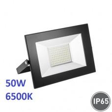 Светодиодный прожектор, 50W, 6500K, IP65, накладной, чёрный
