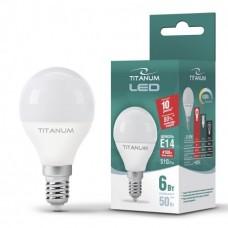 Светодиодная лампа TITANUM,  6W, E14, G45, 220V, 4100K - нейтральное свечение